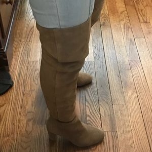 Vince Camuto Thigh High Suede Booties